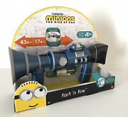 Despicable Me Minions The Rise Of Gru Fart Andlsquon Fire Blaster Toy Gun New