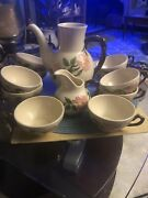Franciscan Desert Rose Coffee Collection Without Lid 10 Cups 1 Creamer
