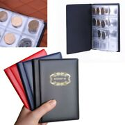 Portable 120pcs Coin Album Holders 10 Pages- Coins Collector Collection Book