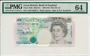 Bank Of England Great Britain 5 Pounds 1990 Prefix Aa01 Pmg 64