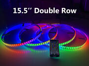 4rings 15.5'' Double Row Chase Flow Led Wheel Lights Ip68 Bluetooth Controller