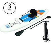 Paddle Board Inflatable Sup Stand Up Hand Pump Pressure Gauge White Cap 3 Pack
