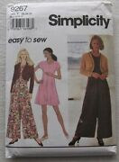 Jumpsuit And Jacket Sewing Patternsimplicity 9267sz 18-22uncutboxyplus Size