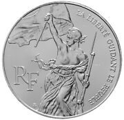 France 100 Francs 1993 Silver Bu And039bicentennial Of The Louvre - Libertyand039