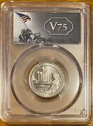 2019 W American Memorial Np Wwii V75 Anniversary Label Pcgs Gold Shield Ms64