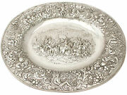 German Sterling Silver Charger Plate - Antique 1886 1400g Width 41cm