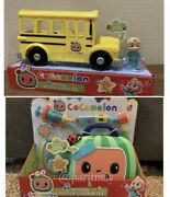 Cocomelon Roleplay Musical Checkup Case And Yellow Jj School Bus Ship Now