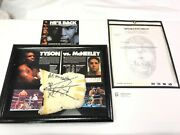 Peter Mcneely Vs Mike Tyson Fight Signed Wrist Wrap Boxing Gloves Rare History