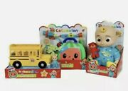 Cocomelon 3 Toy Bundle Jj Plush Musical Doctor Checkup Set And Yellow School Bus