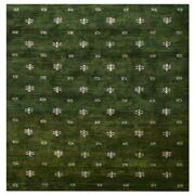 Hand Knotted Silk And Wool 5and039x8and039 Area Rug Contemporary Green White Bbh Bblsm501