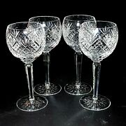 4 Four Waterford Ciara Cut Crystal Wine Hocks Rare- Signed Discontinued