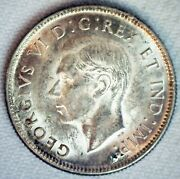 1938 Canada Silver Quarter 25c Canadian Coin Almost Uncirculated George Vi