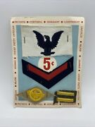 Vintage Military Patches Vending Machine Display Gumball Prizes