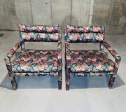 Pair Of Milo Baughman For Thayer Coggin Mid Century Parsons Chairs