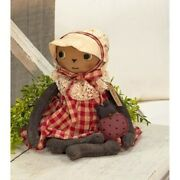 Lady Baby Bug Doll Primitive Country Farmhouse Collectible Cloth Fabric