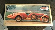 Vintage Genesee Beer Race Car Metal Sign Tin Over Cardboard Toc Rochester Ny