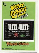 2011 Topps Wacky Packages Um And Ums Old School 3rd Series 3 Promo Sticker Card