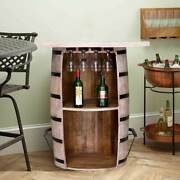 Furniture Boutiq Honol Distressed Reclaimed Wood Handcrafted Wine Bar Cabinet