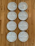 Set Of 8 Shenango China Restaurant Ware Divided Diner Grill Plate 9 3/4andrdquo Mcm