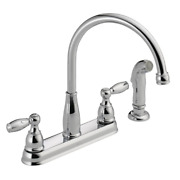 Delta Foundations 2-handle Standard Kitchen Faucet With Side Sprayer In Chrome