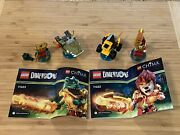 Lego Dimensions Pack Chima 71222 Laval + 71223 Cragger Figures 99 Complete