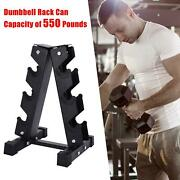 3/5/6 Tier Heavy Duty Dumbbell Weight Stand Gym Dumbbell Storage A-frame Rack