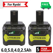 Battery For Ryobi One+ Plus 18volt Drill P104 P108 P102 P103 P105 130429054 6ah