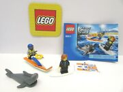 Lego 60011 City Surfer Rescue Complete W/ Instructions And New Sticker Set