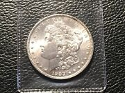 1903 Morgan Dollar Very High Grade But Some Light Cleaning.