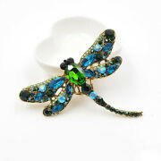 Vintage Crystal Dragonfly Brooches For Women Pin Gift Ideas Coat Accessories