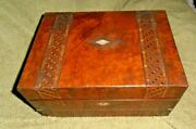 Antique Early Inlaid Box Jewelry Storage Document Victorian Unusual Converts To