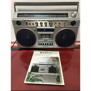 Sanyo Boombox Mr-xd1wide Fm/am 2-band Stereo Radio Cassette Belt Replaced 0677mn