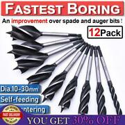 1/8/12x Fast Cut Spade Bit Auger Wood Drill Set Holesaw Joiner Carpenter 10-35mm
