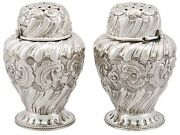 Pair Of Victorian Sterling Silver Condiment Shakers - 1850-1899