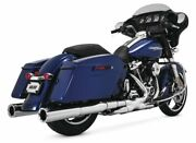 Vance And Hines Power Dual Exhaust For Harley-davidson Flh Flt 2017-2020 Chrome
