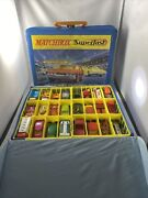 Vintage Lot Of 44 Matchbox Lesney Cars And Two Superfast Collectors Cases