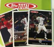 2019 And 2020 Topps Total You Pick By 100 Card Wave Or Complete Set Tatis Jr Rc