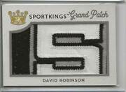 2020 Sport Kings David Robinson Game-worn Letter S Grand-patch Relic 1/1
