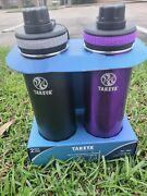 Takeya 24oz Originals Stainless Steel Water Bottle With Spout Lid 2pk