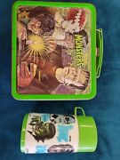 Vintage 1979 The Universal Monsters Lunchbox And Matching Thermos.by Aladdin