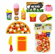 Fast Food Lunch Play Pizza Set Toy For Kids Restaurant Role Pretend Play Kids