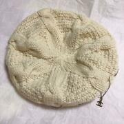 Beret Cashmere Knit Hat White Womenand039s Used 769/me