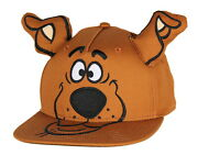 Scooby Doo Embroidered Character Face Adult Adjustable Snapback Hat With 3d Ears