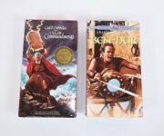 The Ten Commandments Sealed And Ben Hur Pre-owned Vhs Bundle