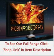Xy Projector Screens Acoustic Black Crystal 200 Alr Ultra Thin Fixed Frame