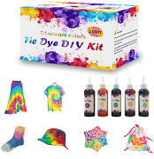 Tie Dye Kit For Kids And Adults 24 Colors In 3.38oz Bottles, Creative Activiti