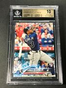 Ronald Acuna 2018 Topps Holiday Wmw50 Snowflake Rookie Rc Bgs 10 Pristine
