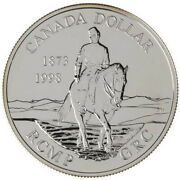 1998 Royal Canadian Mounted Police 125th Ann. Proof Silver Dollar In Capsule