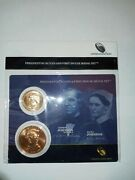 2011 Presidential 1 And First Spouse Medal Set Andrew And Eliza Johnson