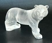 Lalique Bengalou Figurine Of A Standing Bengal Tiger Flawlerss